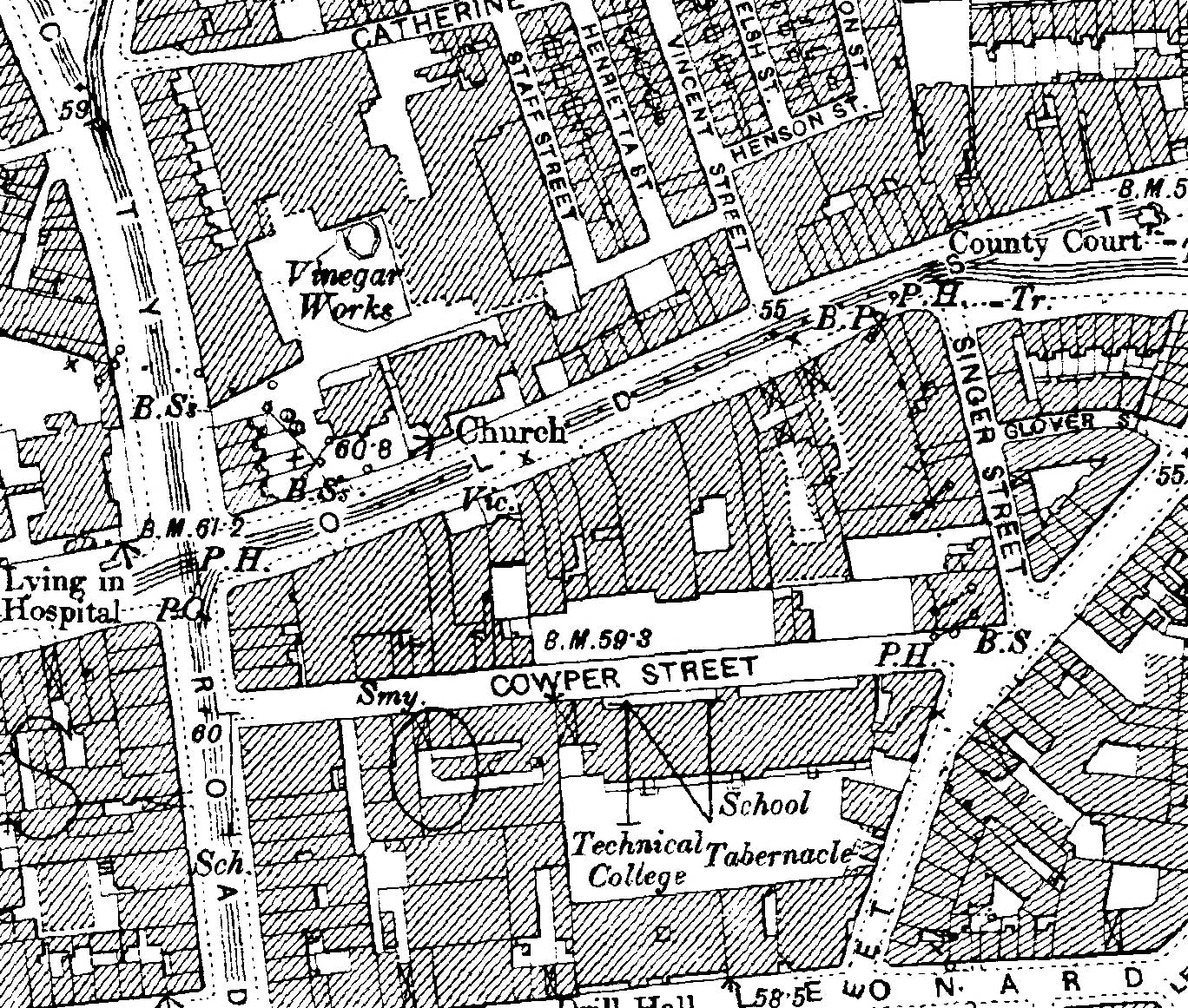 Old Street London Map.Damage To Cowper Street And Old Street Off City Road London