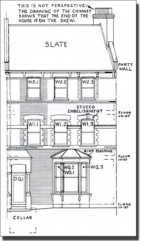 Typical Victorian Terraced House Plan